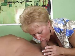 sexy granny sucks a big cock