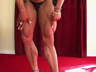 She Traces The Muscle Development With Her Finger Maximum Veins Slow Motion