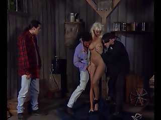 Blonde Busty DP Queen Helen Duval, Busted by 3 Guys