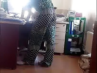 hidden cam at office secretary,