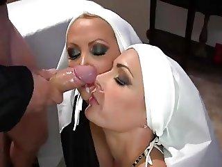 2 Nuns fuck in church