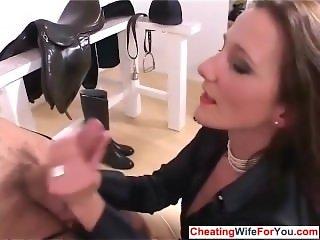 Professional mistress handjob