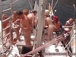 Velvet Swinger club boat trip gangbang and orgy