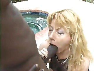 Sexy milf in fishnet body fuck bbc