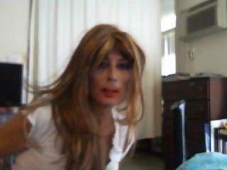 Sexy Tasha Dirty Talk Hot Big White Ass Crossdresser Tgirl