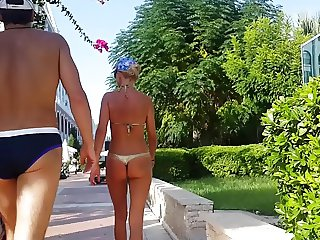 hot russian mom thong bikini