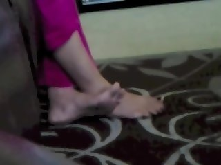 Desi Pakistani Feet Tease Salwar High