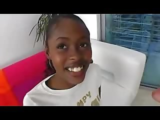 Young ebony girl fuck and facial