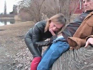 mature mom blowjob outdoor