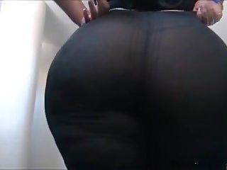 Mature Latina in Black Leggins