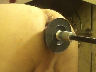 Fuck machine pushing my knotted toy in and out of my ass