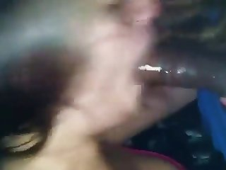Gagging on a Black Cock