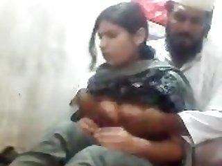 Pakistani Maulvi sahib playing around with a girl