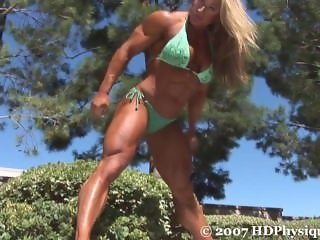 Heather Armbrust green bikini