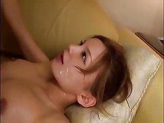 Japanese Couple Cum kissing