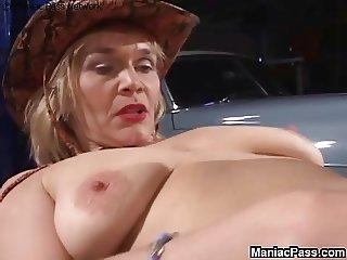 Lesbian gf seduces older woman