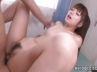 Locker room fuck for the Asian slut's pussy