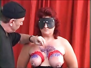 MySexy Piercings Heavy pierced mature slave pierced pussy an