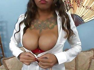 Busty Asian - Schoolgirl Anal