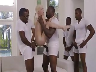 xxxvideosarea - White girl fuck 5 black dicks