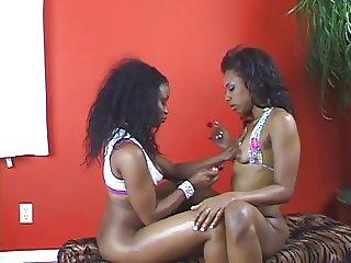 Black lesbian chicks licking pussy