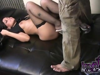 Ivy Black in her Horny Police Officer Costume Showing Her Body