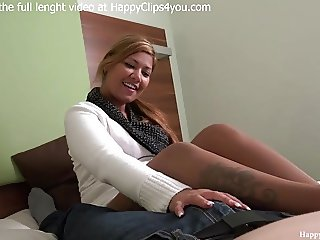 Jessica and George taboo footjob session