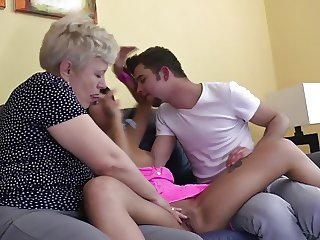 Mature mother joins young couple