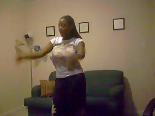 Dancing Teen With Huge Tits