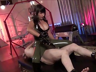 Hot Asian mistress Electro torture and faceslapping