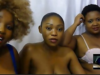 6 webcam girls vs 1 cock