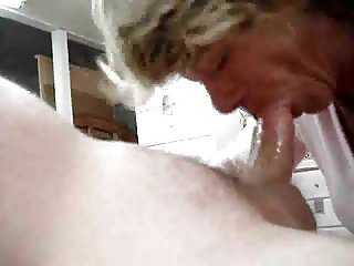 Granny sucks good and swallows reward