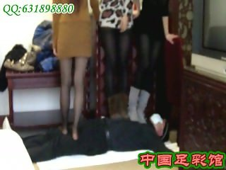 3 Chinese girls trample