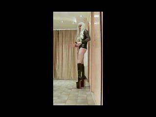 extreme 12inch heels boots and long nails masturbation