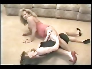 Apartment Wrestling Blonde vs Brunette