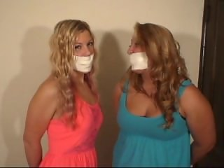 2 girls microfoam gagged
