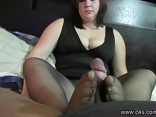 Lexi Black Pantyhose Footjob & Blowjob