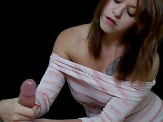 Catherine gives a handjob