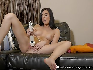 Coeds Hitachi Mastubation to Multiple Satisfying Orgasms