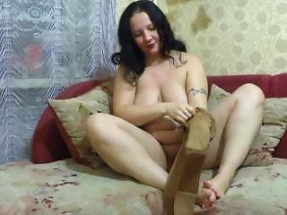 mature milf, dress nylon pantyhose