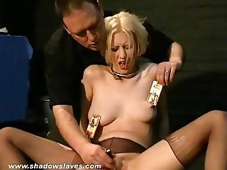 Kinky Cherry Torns bizarre searing ass punishment and blonde