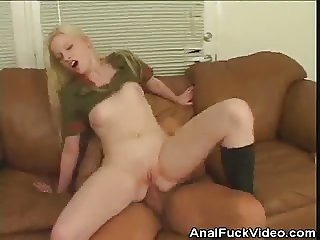 Military Chick Analed Out Of Her Mind