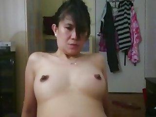 Maria Filipina Girl rides White Cock Bare Back