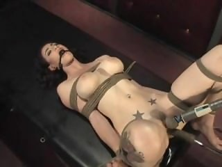 Natalie bound and machine fucked