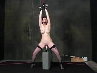 Brandy restrained and pounded by fucking machine