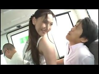 asian chick gets fucked in a bus