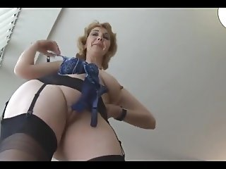 Mature British in stockings upskirt tease 1 (XED)