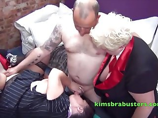 More fucking with Granny Kim on the pool table