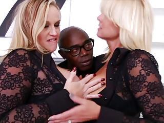 2 Blonde Sluts Let's Black Guy Use Ass Like Tube Socks