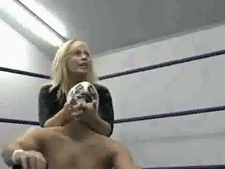 2 vs 1 mixed wrestling beatdown